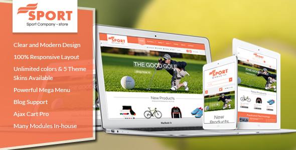 [Magento] SM Sport - Responsive Magento Theme for Sport Store