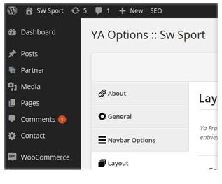 Sport - Admin Panel