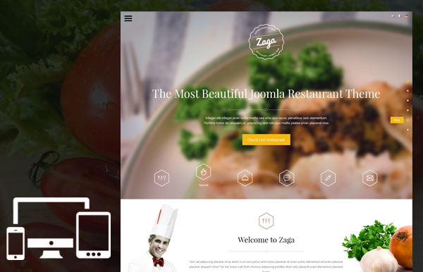 Zaga - Responsive Onepage Restaurant Template