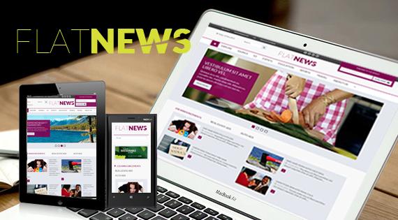 [Joomla] SJ Flat News - The responsive Joomla template for News & Magazine