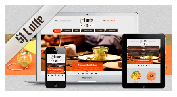 SJ Lotte - Fully Responsive