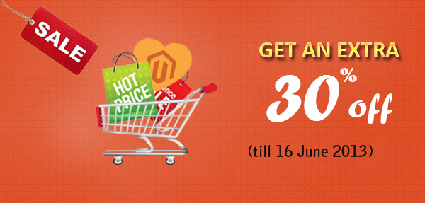 Get 30% discount for all Magento products and joining Clubs