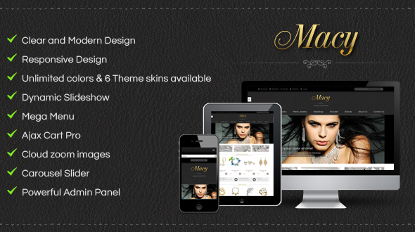 [Magento] SM Macy - Luxury theme with glamour style