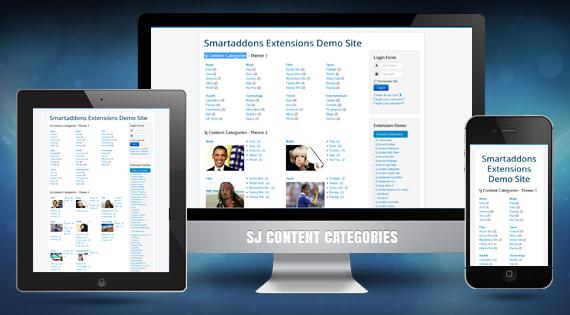 SJ Content Categories - Responsive module for Joomla 2.5 and Joomla 3.x
