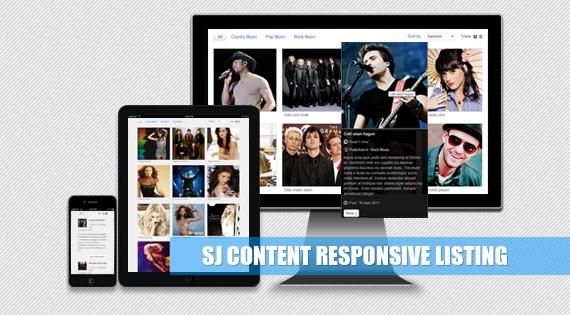 SJ Content Listing - Responsive Joomla module for Joomla 2.5 and 3.x