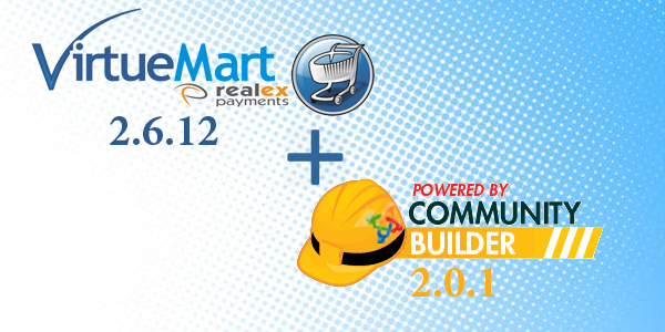 VirtueMart 2.6.12 and Community Builder 2.0.1 Release