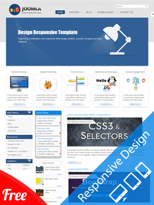SJ Joomla3 - Free Template for Joomla 3.x