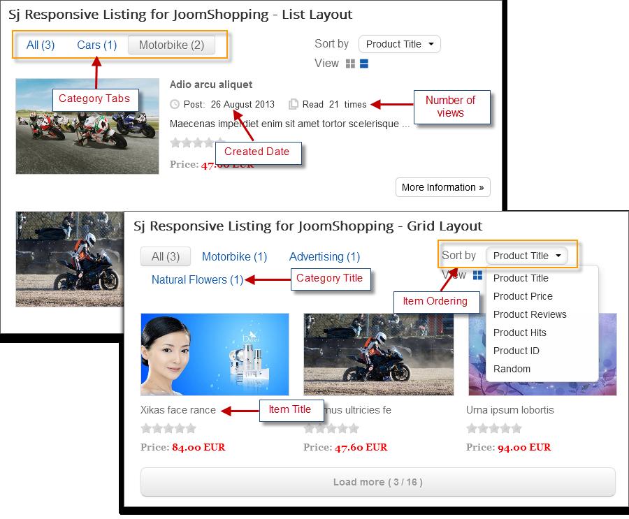 SJ Responsive Listing for JoomShopping