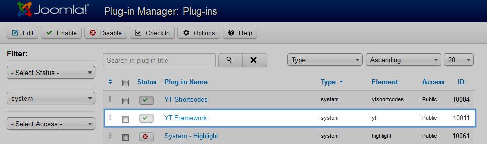 YT Plugin for YT Framework