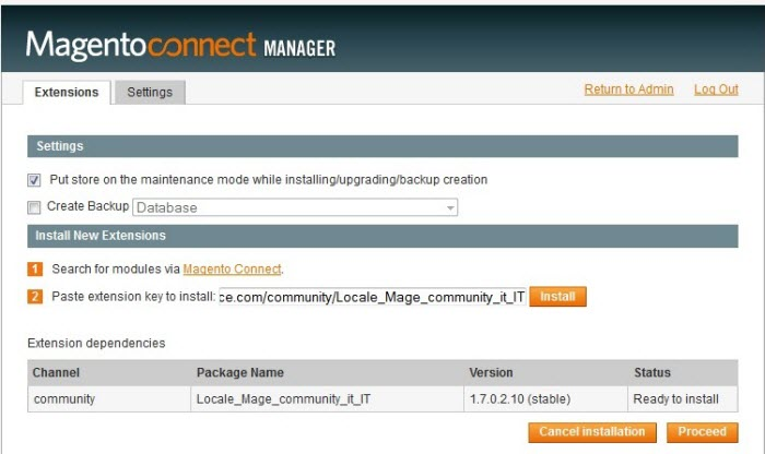 Magento. How to install a new language