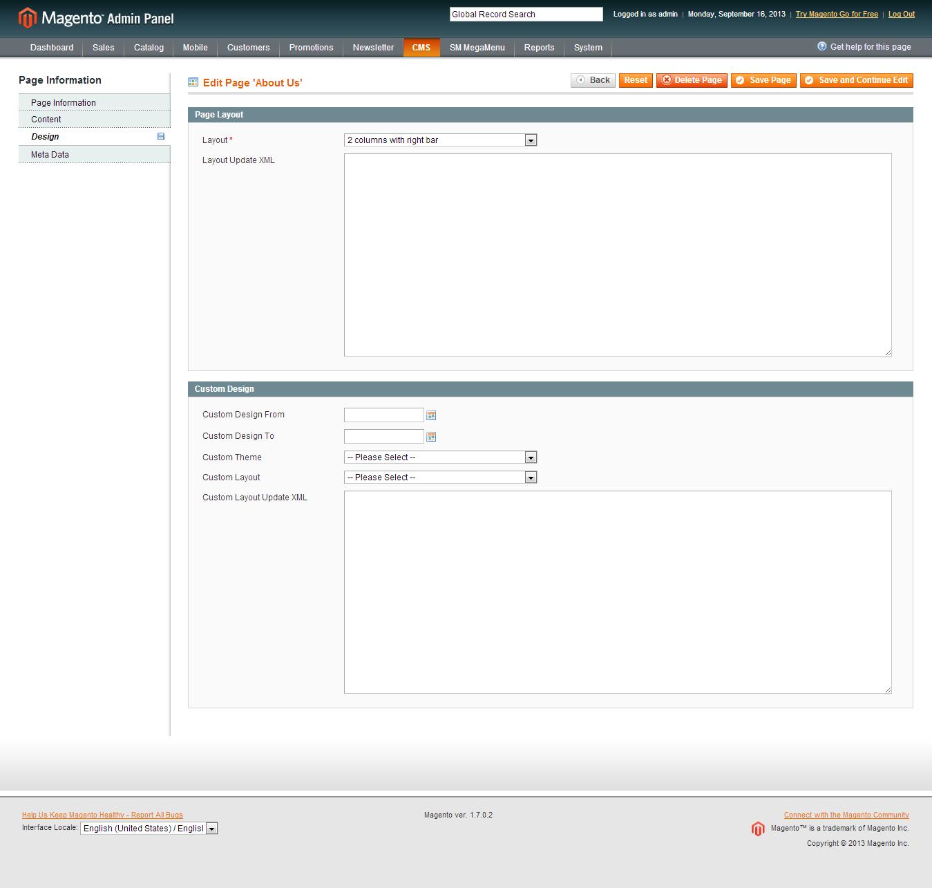 Customer account login/index.php/admin/Cms_Wysiwyg/directive - Mega Tab Backend