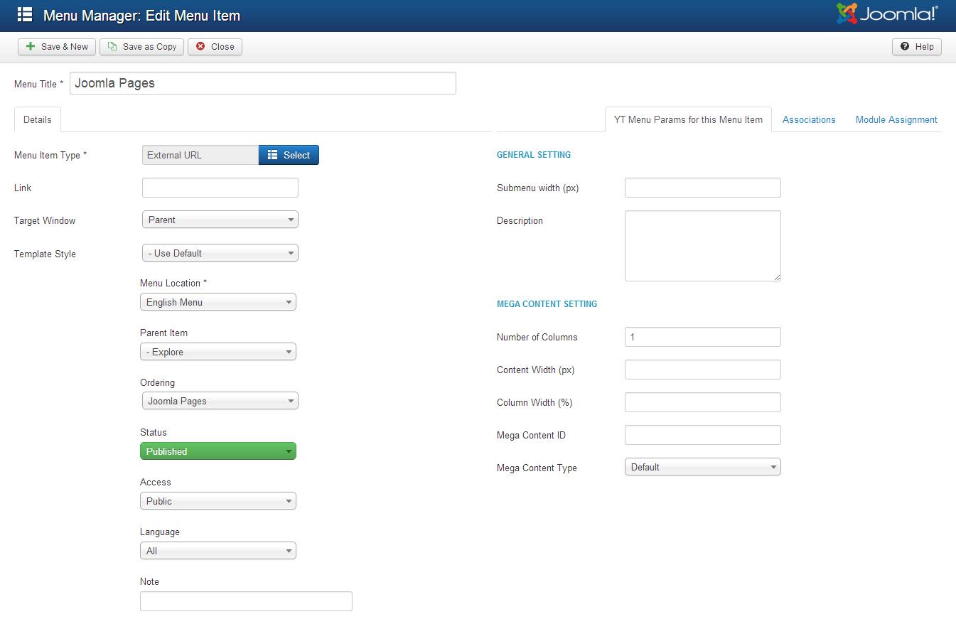 joomla backend templates - sj royal template userguide