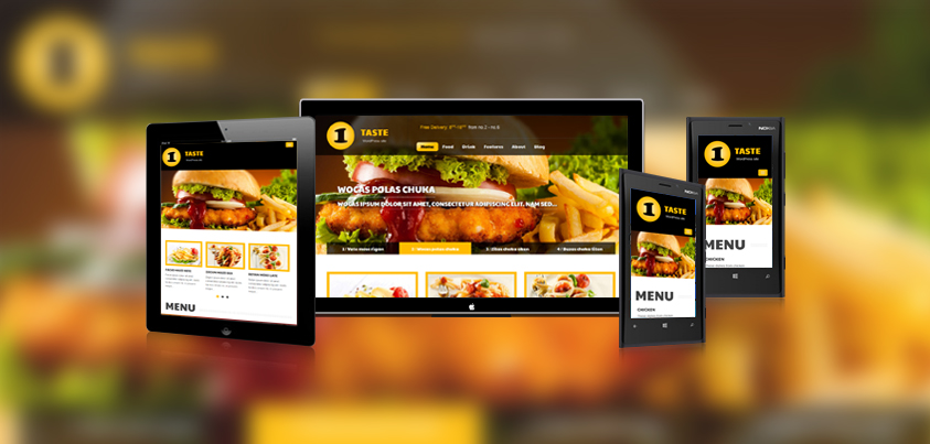 SW Taste - a WordPress theme for food-and-drink