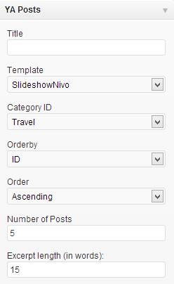 Ya Posts widget