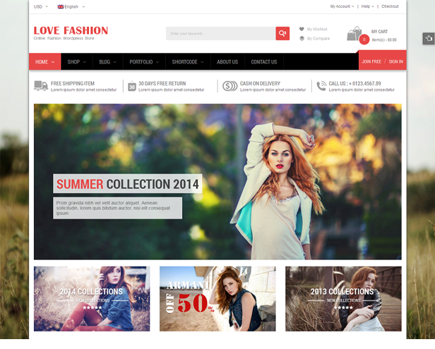 Love Fashion - Homepage