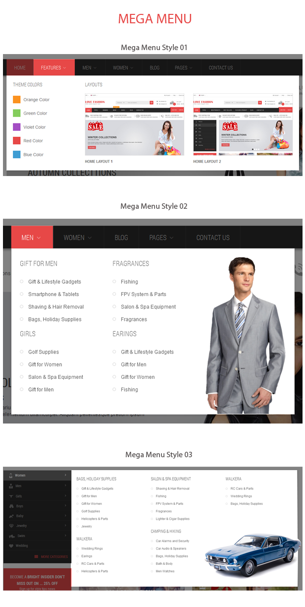 OpenCart Fashion Theme - Mega Menu