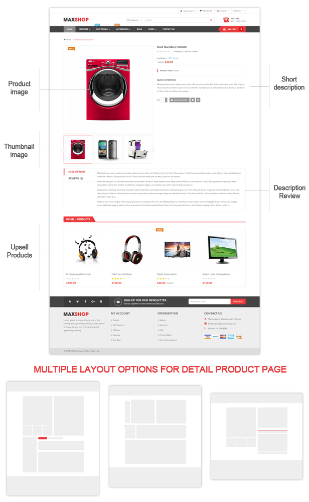 Maxshop - Product Page