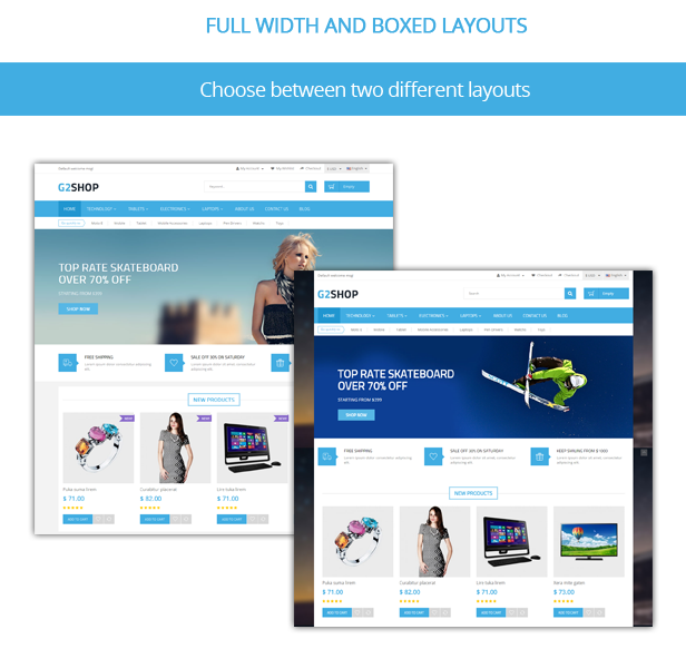 G2Shop - Responsive Prestashop Theme