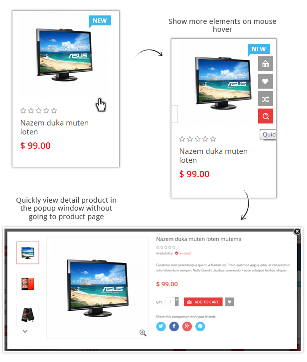 Maxshop - Quick view