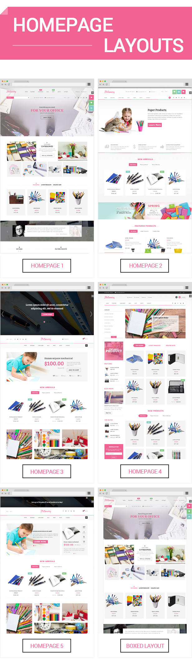 Stationery - Homepage