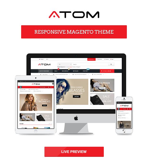 Atom -  Multipurpose Responsive Magento Theme