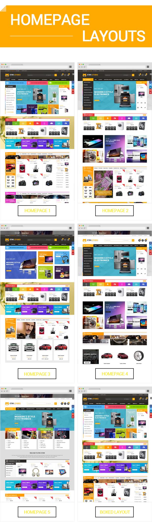 Etrostore - Homepage