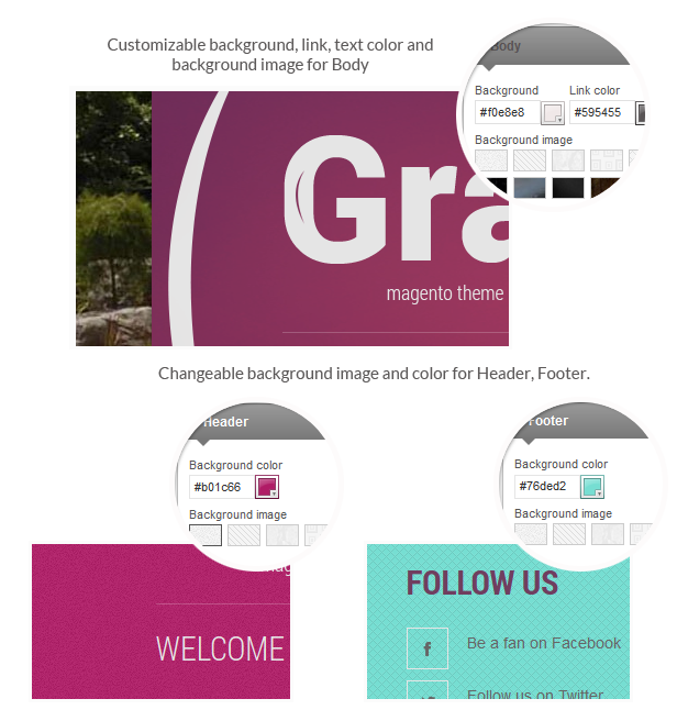 Gran- Background options