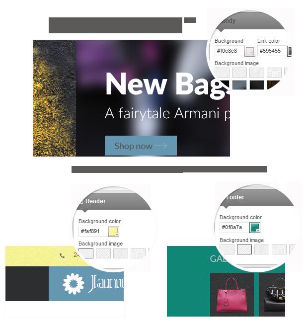 Janu - Background options