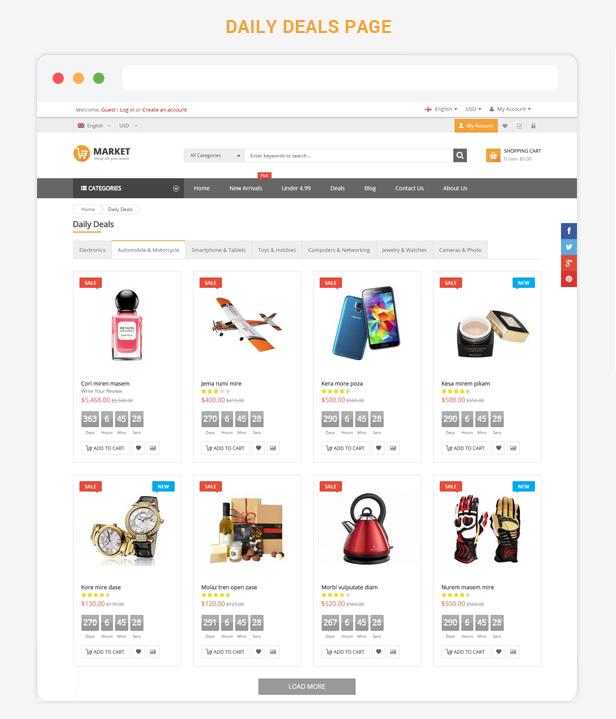 Market - Premium Responsive Magento Theme
