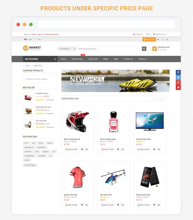 Market - Under price page