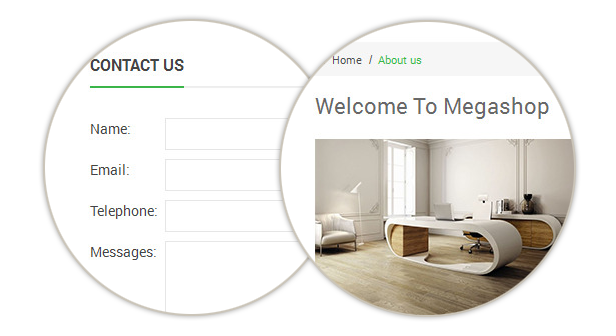 Megashop- Contact Us page