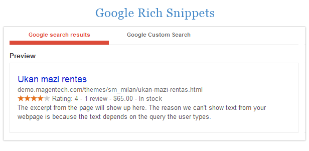 Milan - Rich snippets