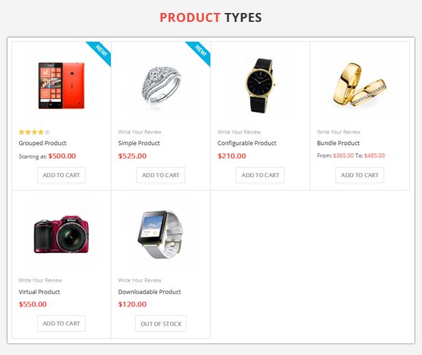 Shoppy Store - 6 product types