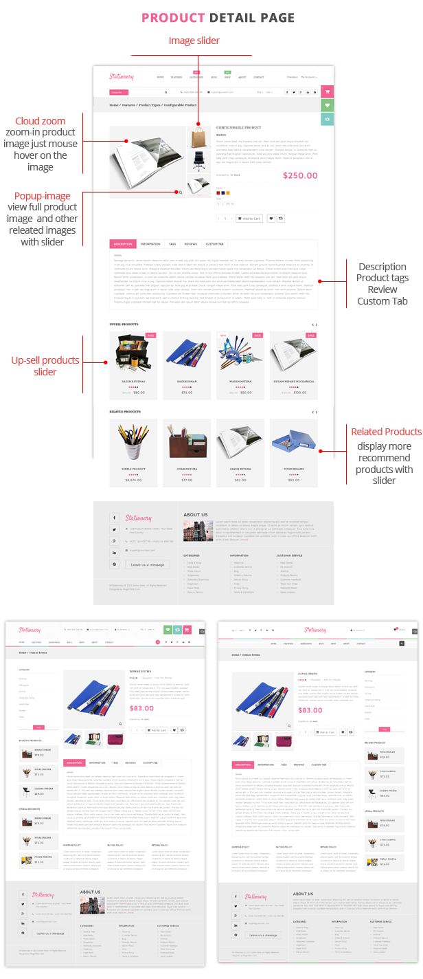 Stationery- Product Page
