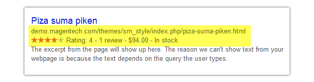 Style - Rich snippets