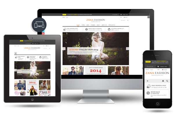 Zana Fashion - Fully Responsive