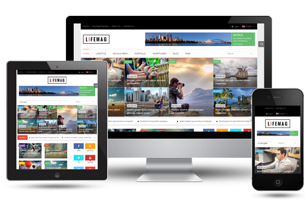 SW Lifemag - Fully Responsive