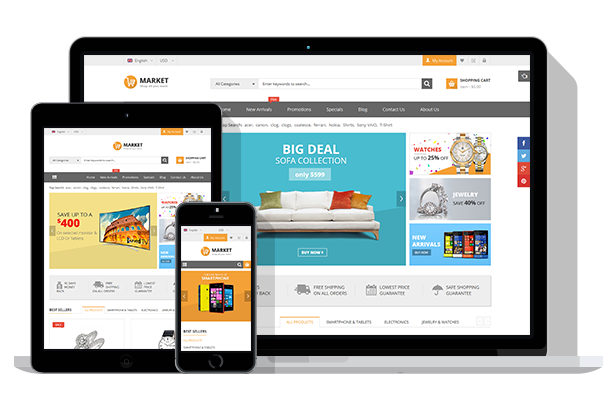 SW Market - Fully Responsive