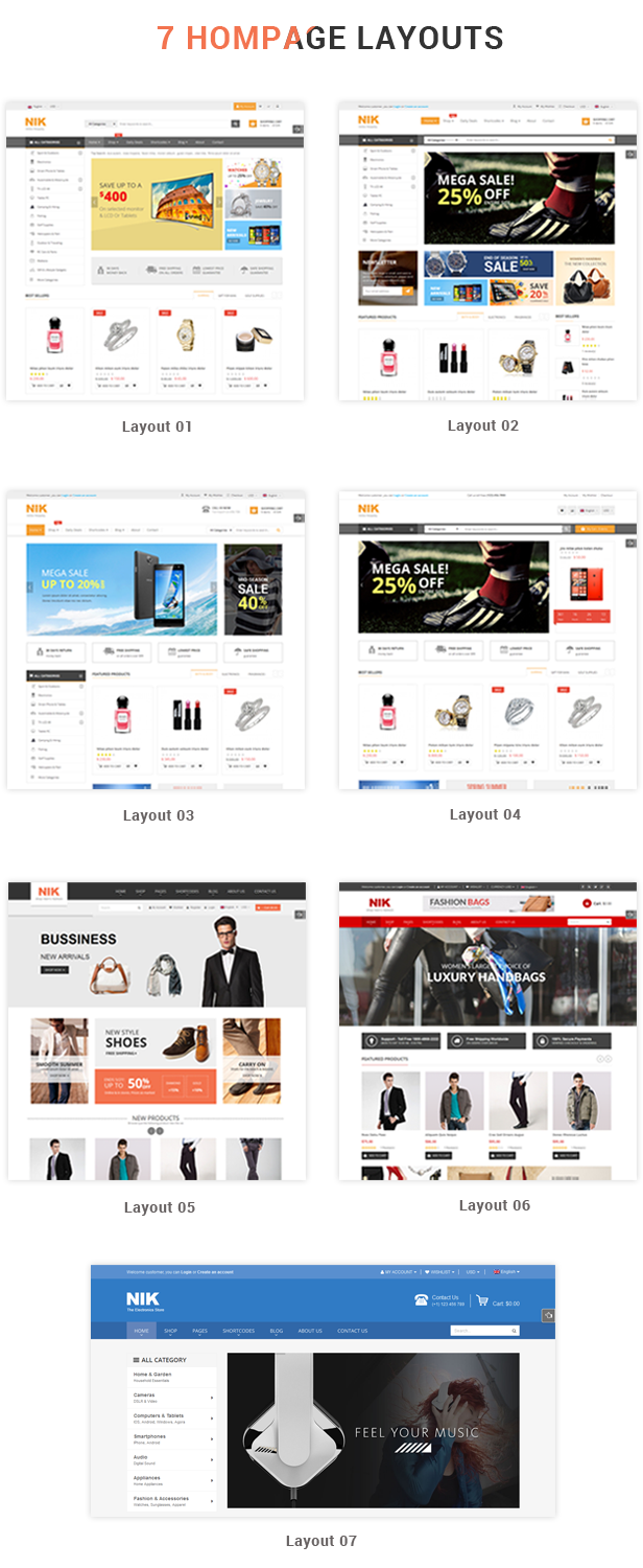 Nik - Responsive WooCommerce WordPress Theme