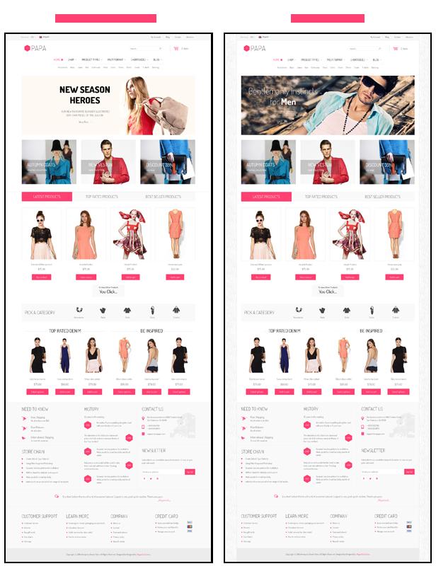 SW Papa - Homepage