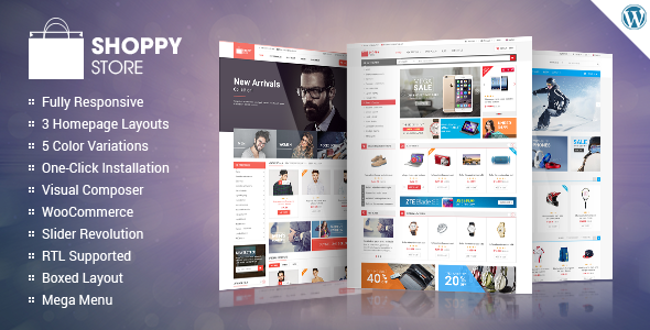 ShoppyStore - An Amazing Theme for any Online WordPress Store