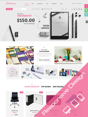 SW Stationery - Responsive WordPress Theme
