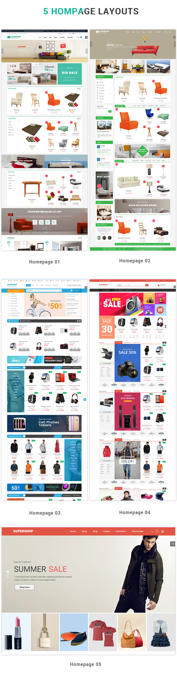 Supershop - Homepage