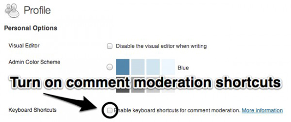 wordpress keyword shortcuts for comment