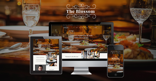 SJ Blossom - Responsive Joomla Template For Restaurant/Food store