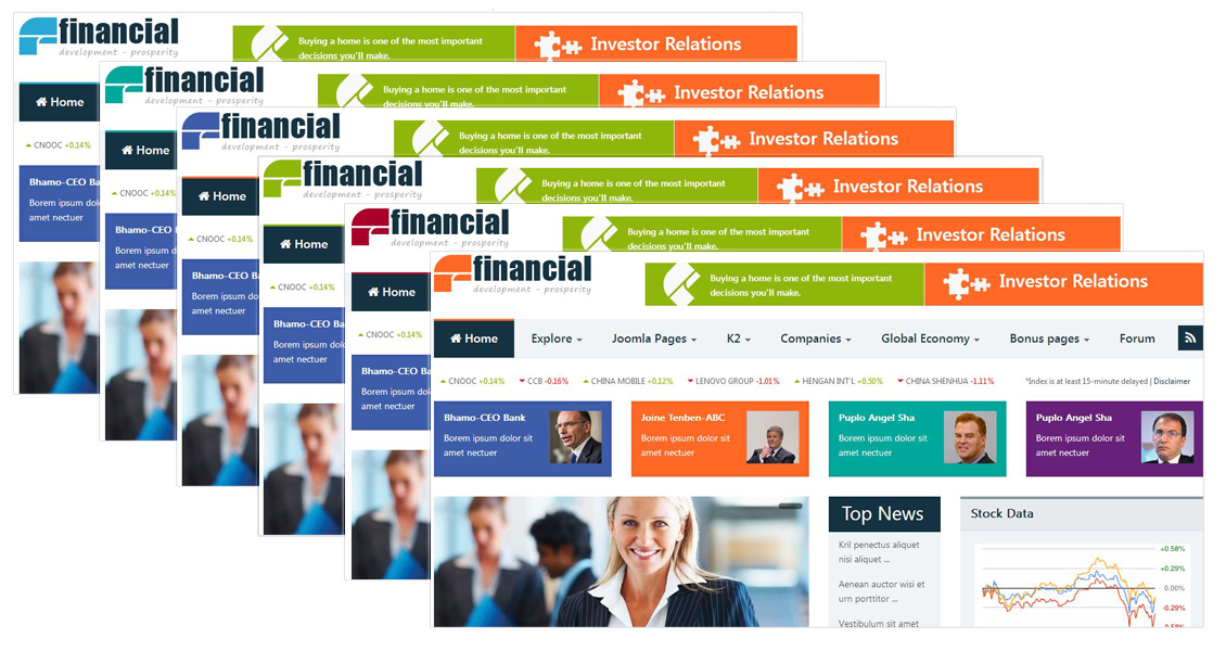Financial - Responsive Joomla News Template