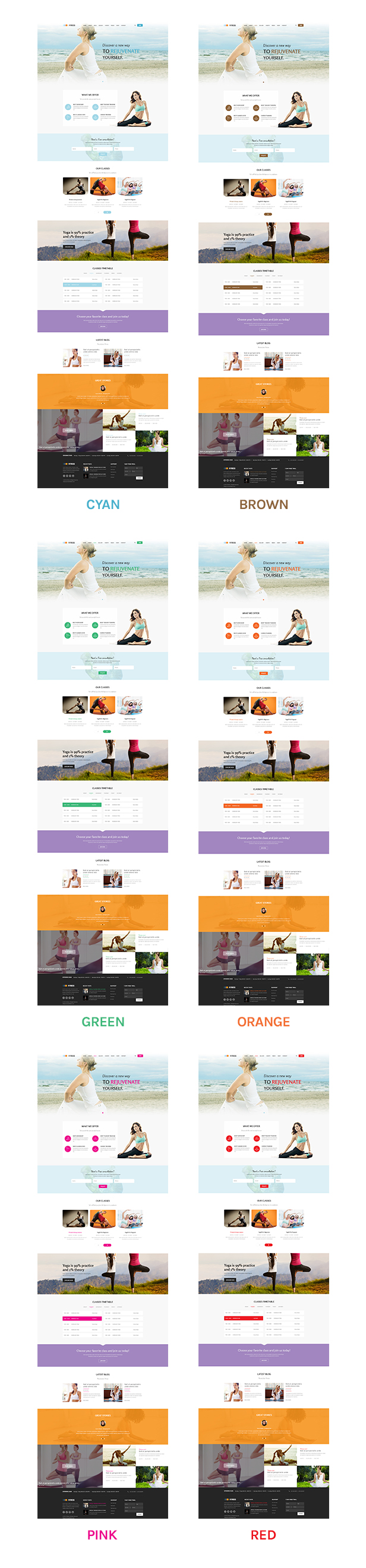 Fitness - Responsive Joomla Yoga Club Template