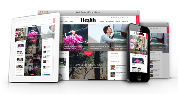 HealthMag - Multipurpose News/Magazine Joomla Template