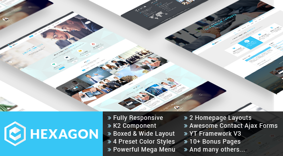 Hexagon - Outstanding Responsive Joomla Business/Corporate Theme
