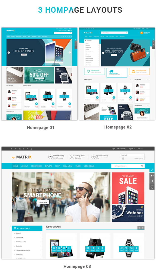 Matrix - Responsive VirtueMart Joomla Template
